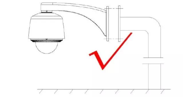 球机防水支架安装示意图